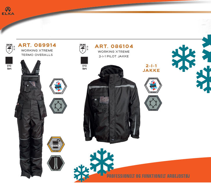 19181ec1 037 Working Xtreme vinter overalls - Working Xtreme 2-i-1 Pilotjakke