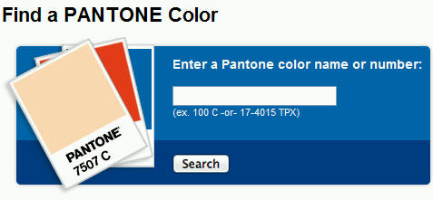 Find a PANTONE Color - click here